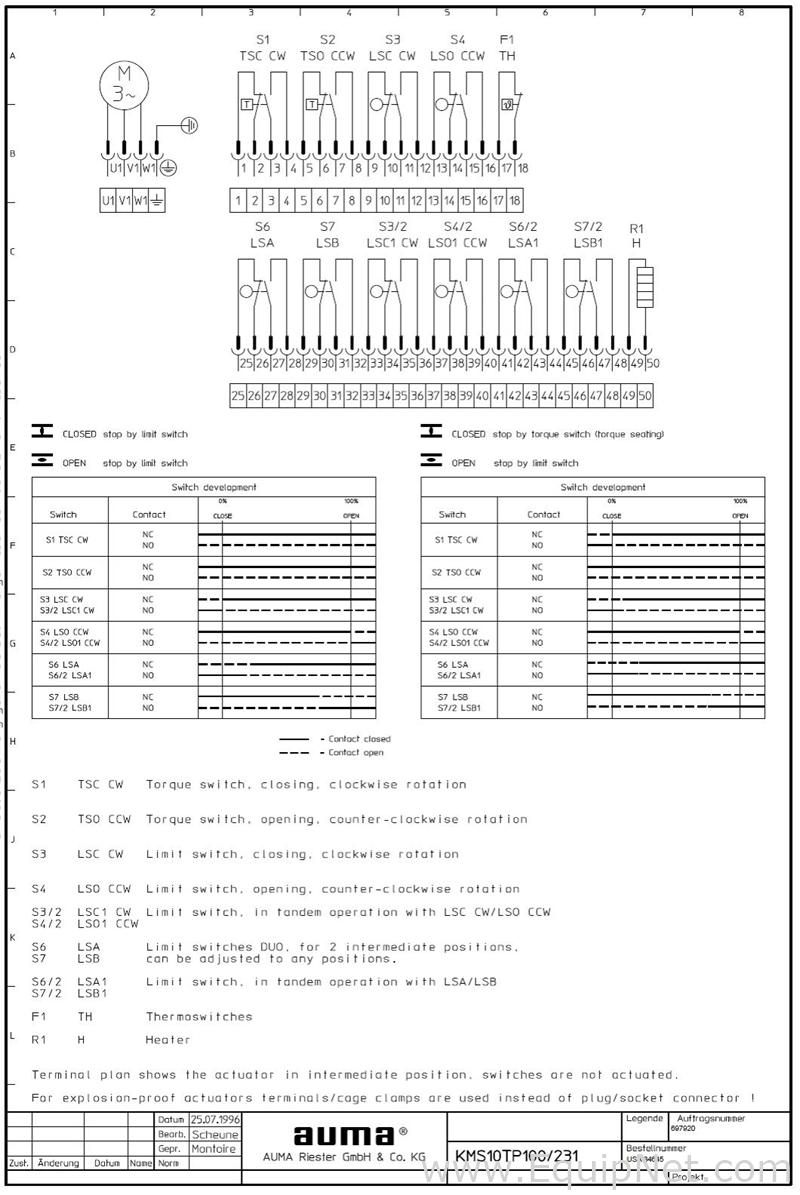auma norm wiring diagram