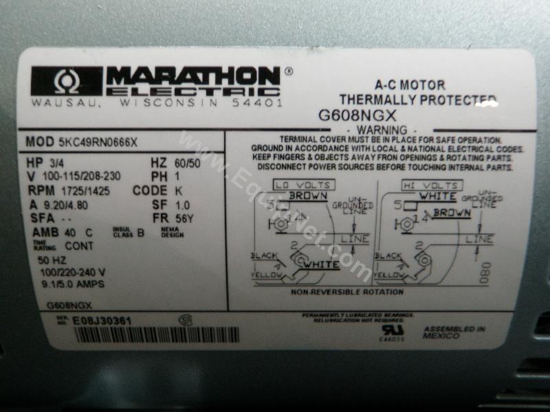 marathon 1 hp electric motor wiring diagram
