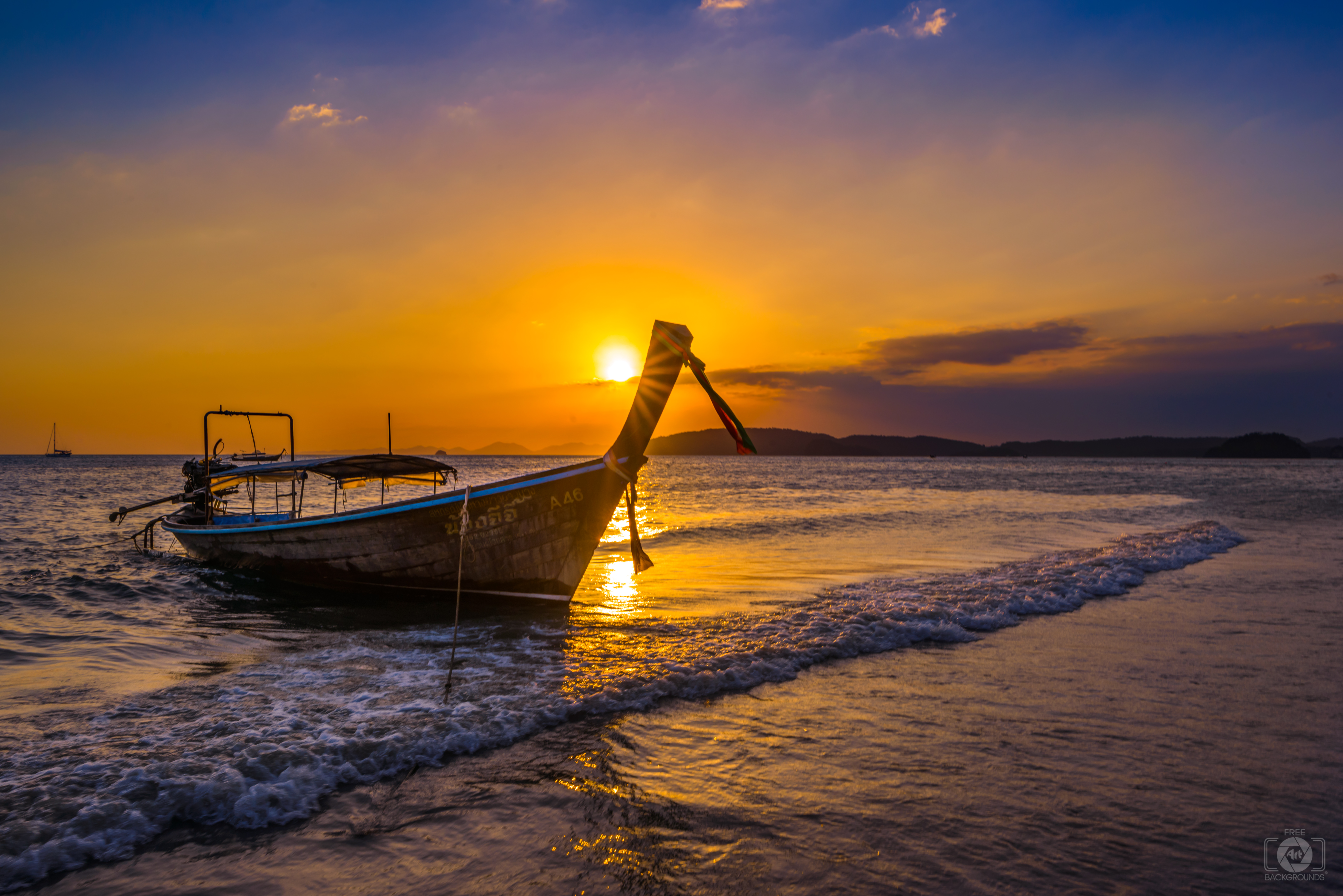 Fall Textures Wallpaper Thai Longtail Boat At Sunset Background High Quality
