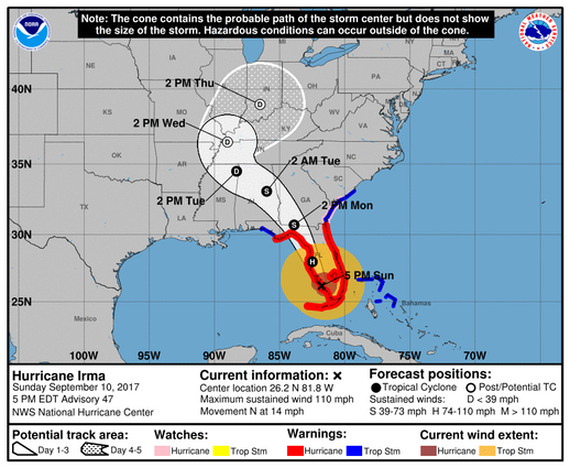 Trump and Irma (or Worst Nightmares for Florida et al) Pro and