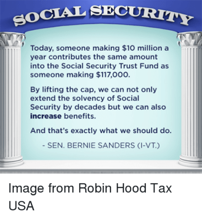 CIAL SECURITY Today Someone Making $10 Million a Year Contributes the Same Amount Into the ...