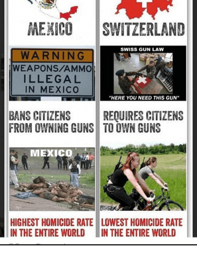 MEXICO SWITZERLAND SWISS GUN LAW WARNING WEAPONSAMMO ILLEGAL IN MEXICO HERE YOU NEED THIS GUN ...