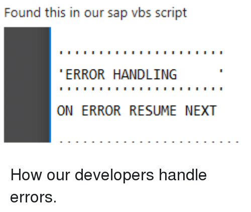 on error resume next meaning