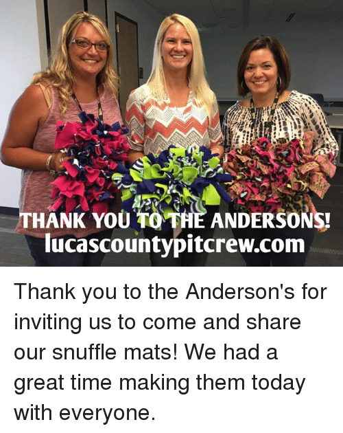 Thank You To The Andersons Lucascountypitcrewcom Thank
