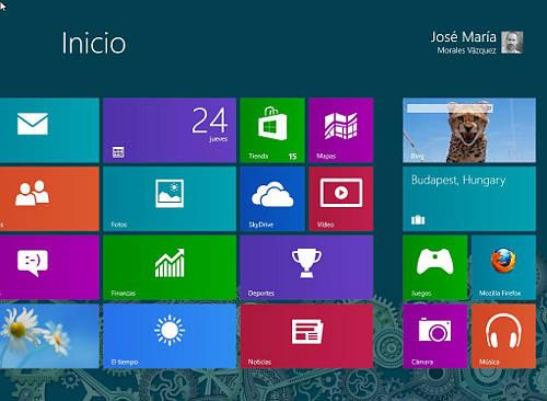 Nueva pantalla de inicio de Windows 8
