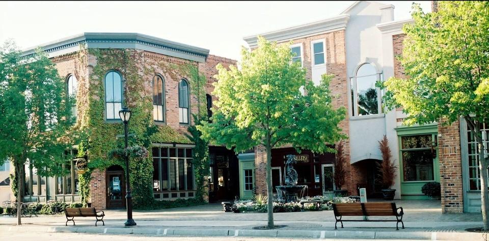 Lexington, MI  The city of Lexington early in the morning photo