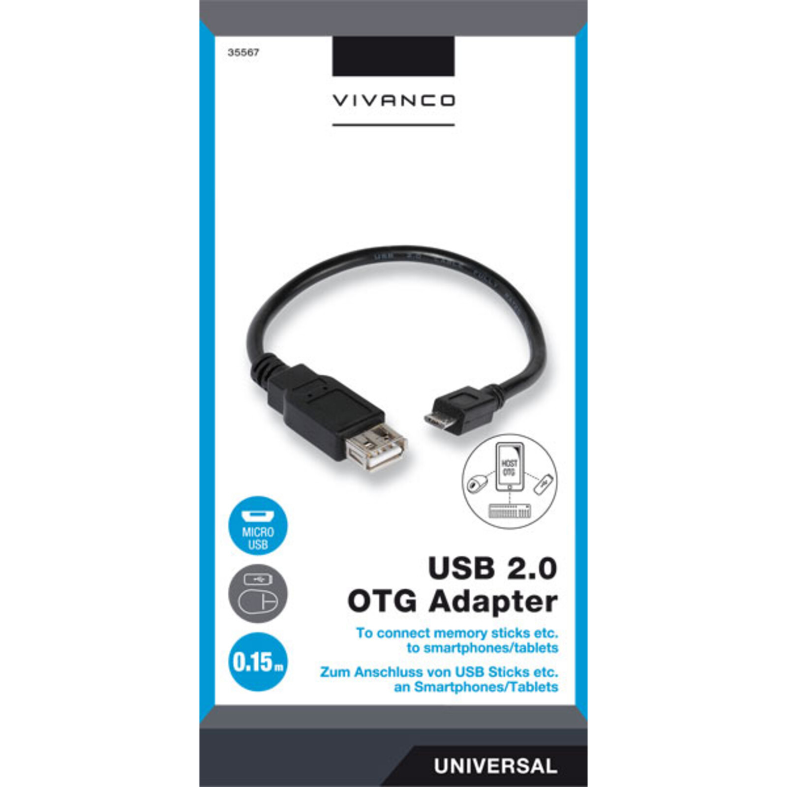 Otg Kabel Media Markt Details Zu Vivanco 35567 Otg Adapter