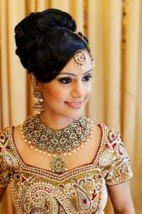 Hair Do Medium Hair On Indian Attire