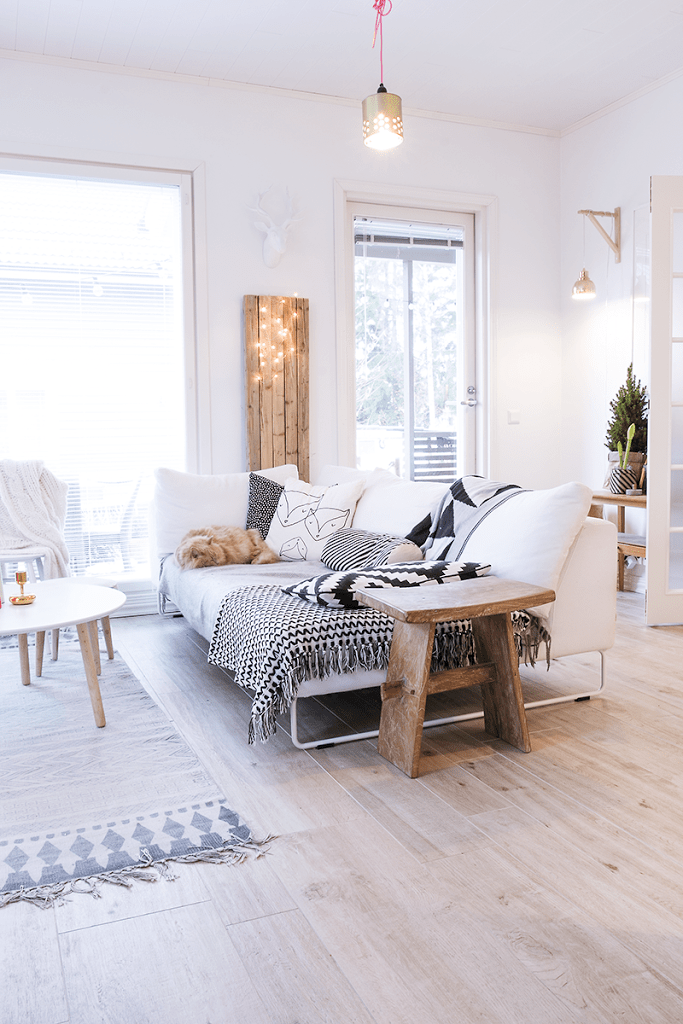 Keuken Interieur Chic Salon-cosy-deco-scandinave-parquet-clair