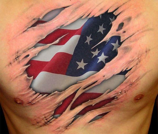 Patrick Star 3d Wallpaper 38 Fabulous American Flag Tattoo Designs For Men Picsmine