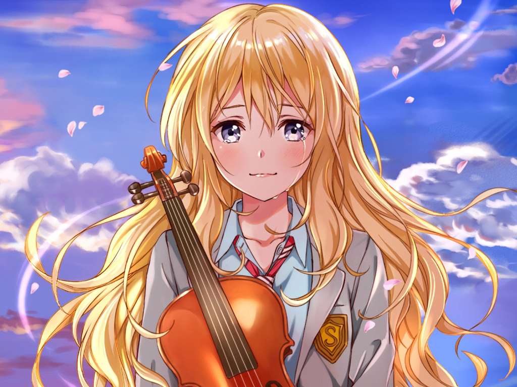 Cute Baby Girl Wallpaper For Desktop Full Screen Desktop Wallpaper Kaori Miyazono Anime Girl Crying Hd