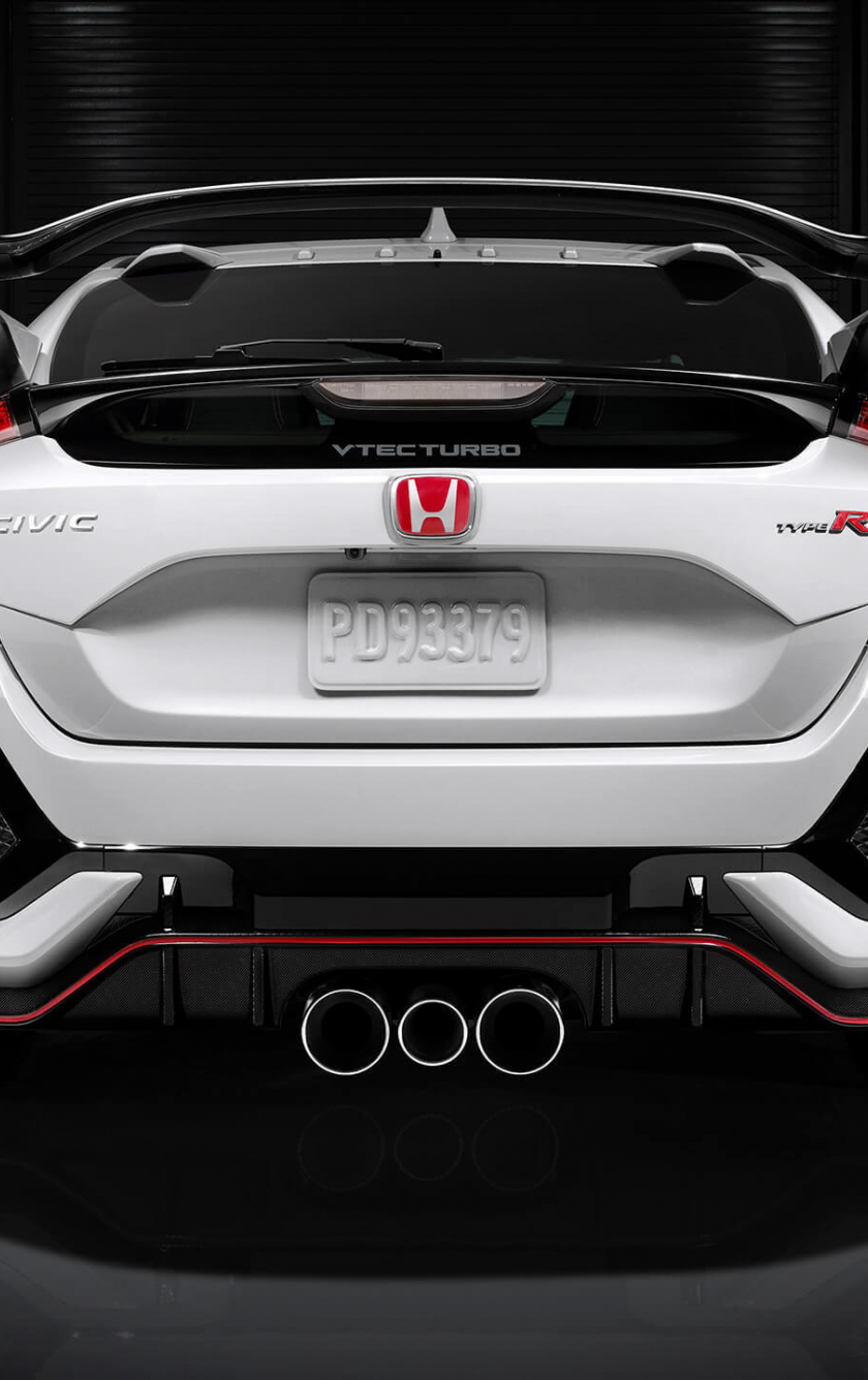 Honda Phone Wallpapers Download 840x1336 Wallpaper Honda Civic Type R Rear View I Phone