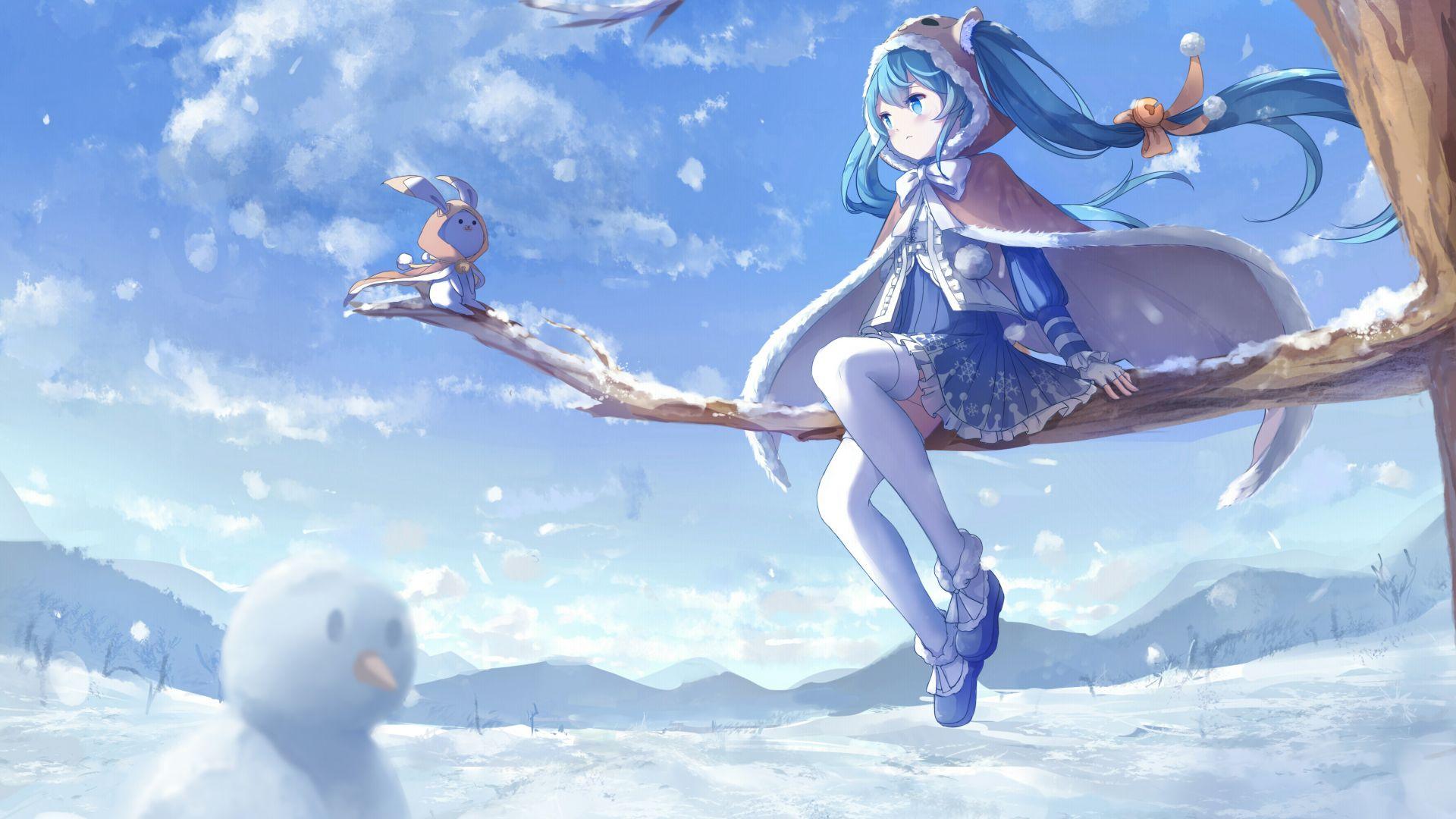 Cute Baby Girl Hd Wallpapers 1080p Desktop Wallpaper Hatsune Miku Outdoor Winter Hd Image