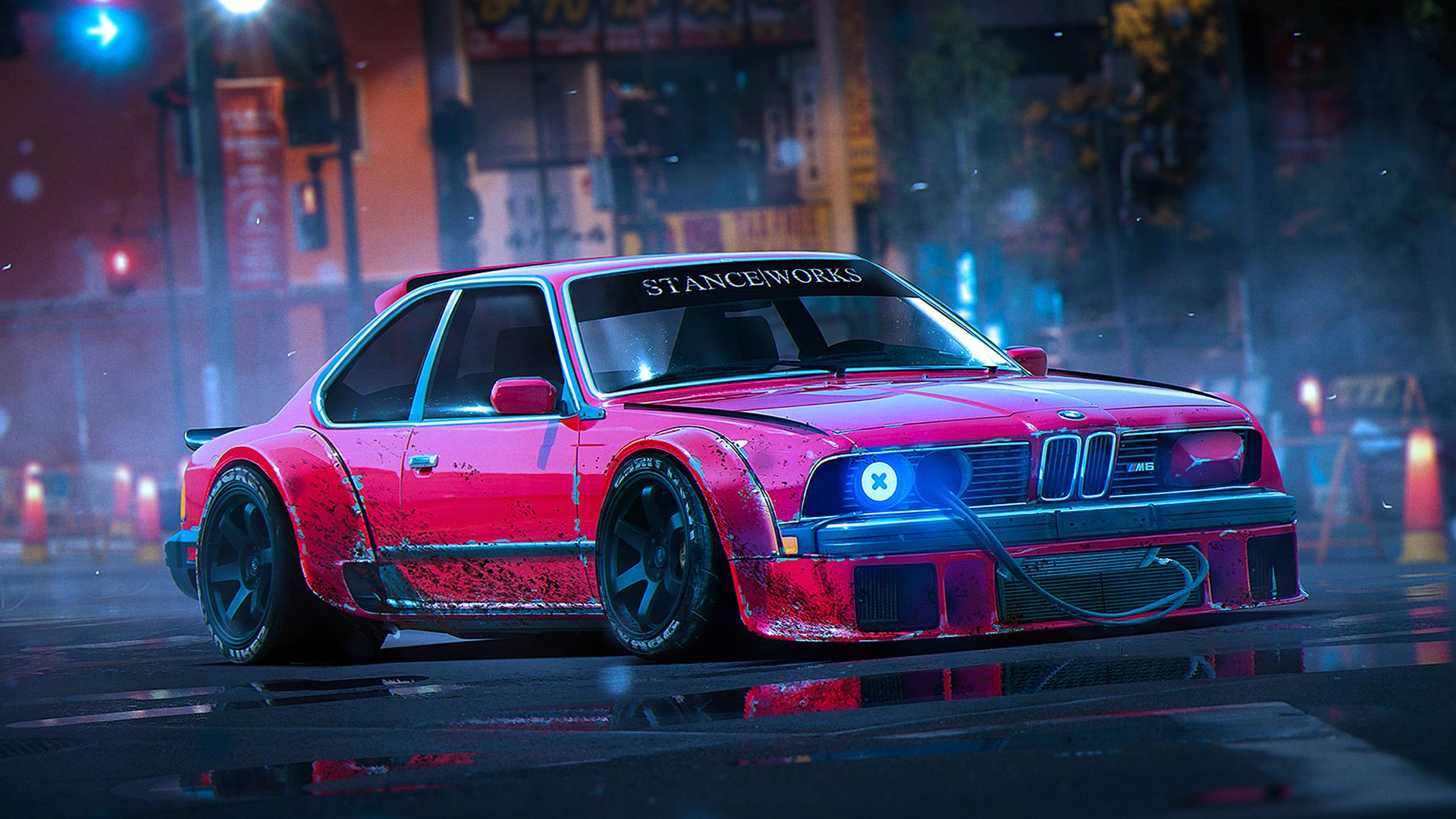 Full Hd Car Wallpapers 1080p Bmw Desktop Wallpaper Red Bmw Old Car From Video Game Hd