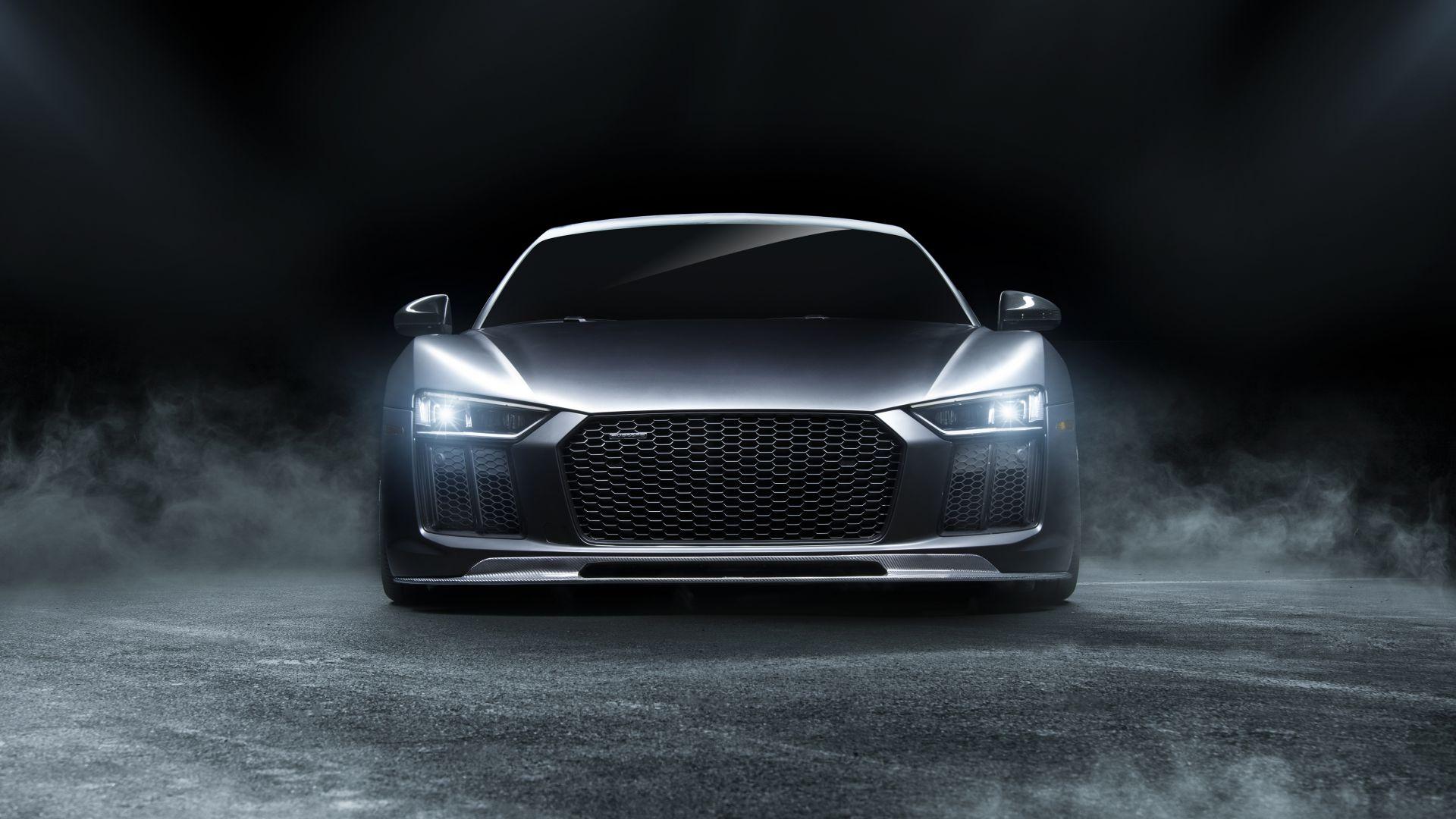 Audi Sports Car Wallpaper Desktop Wallpaper Audi R8 Sports Car Front View Hd