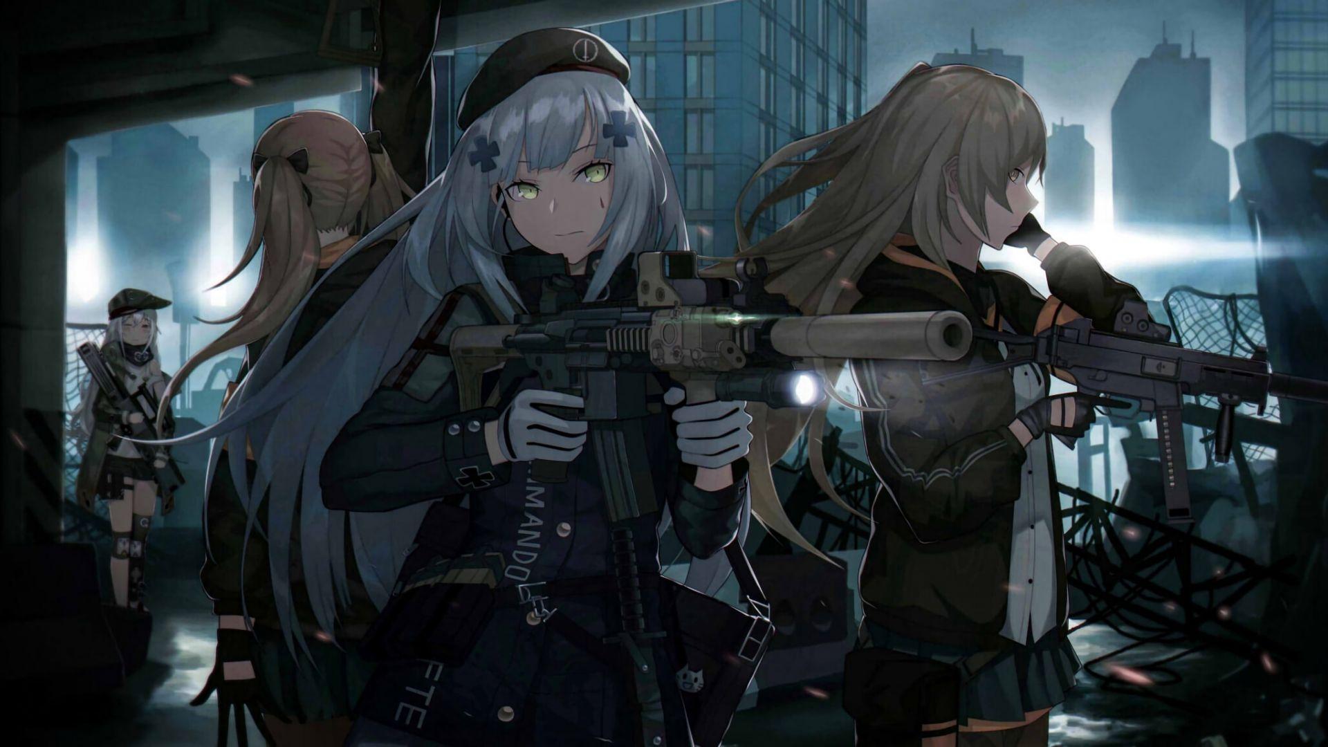 Boy Girl Wallpapers Desktop Desktop Wallpaper Girls Frontline Anime Girls With Gun