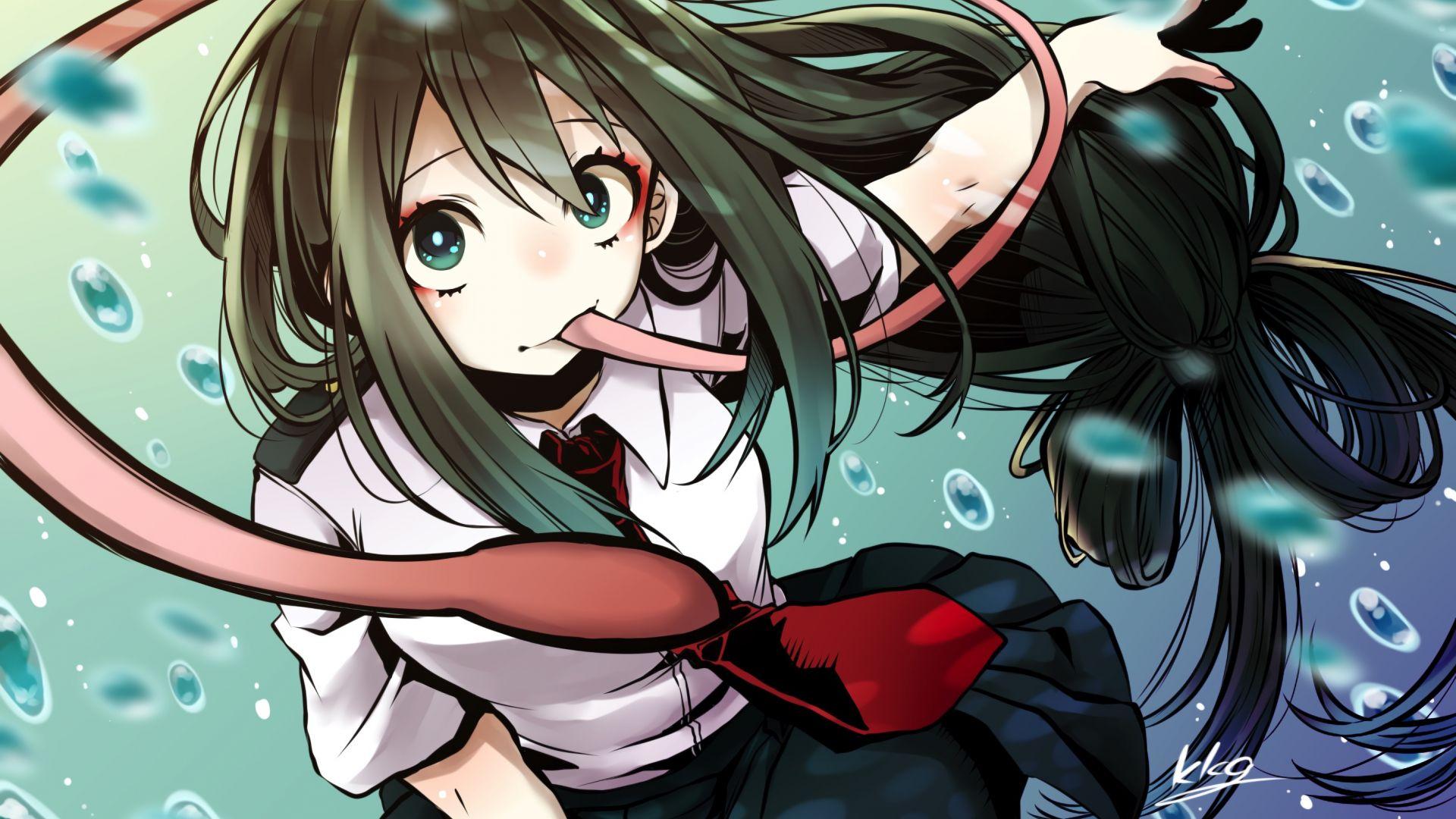 Cute Anime Couple Wallpaper Hd For Android Desktop Wallpaper Anime Girl Cute Tsuyu Asui Hd Image