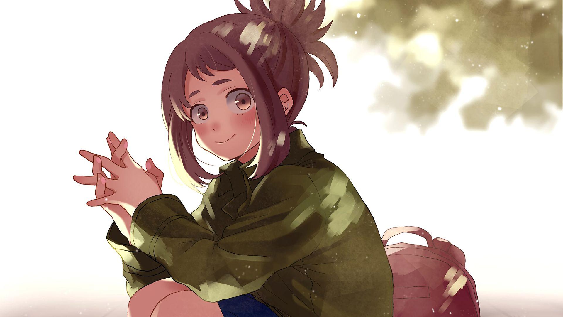 Cute Girl Hd Wallpaper For Laptop Desktop Wallpaper Cute Anime Girl Ochako Uraraka Boku