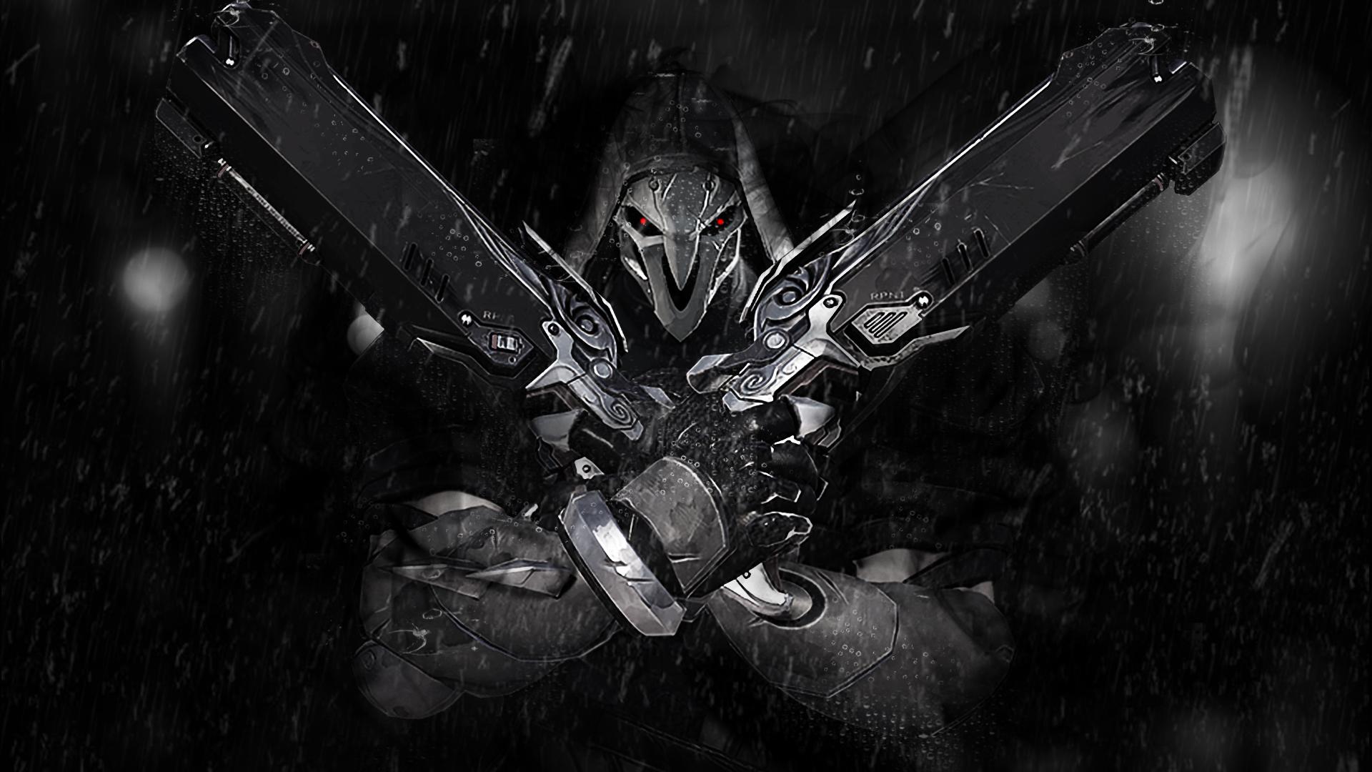 Overwatch Hanzo Wallpaper Iphone Desktop Wallpaper Reaper Overwatch Video Game Dark Hd