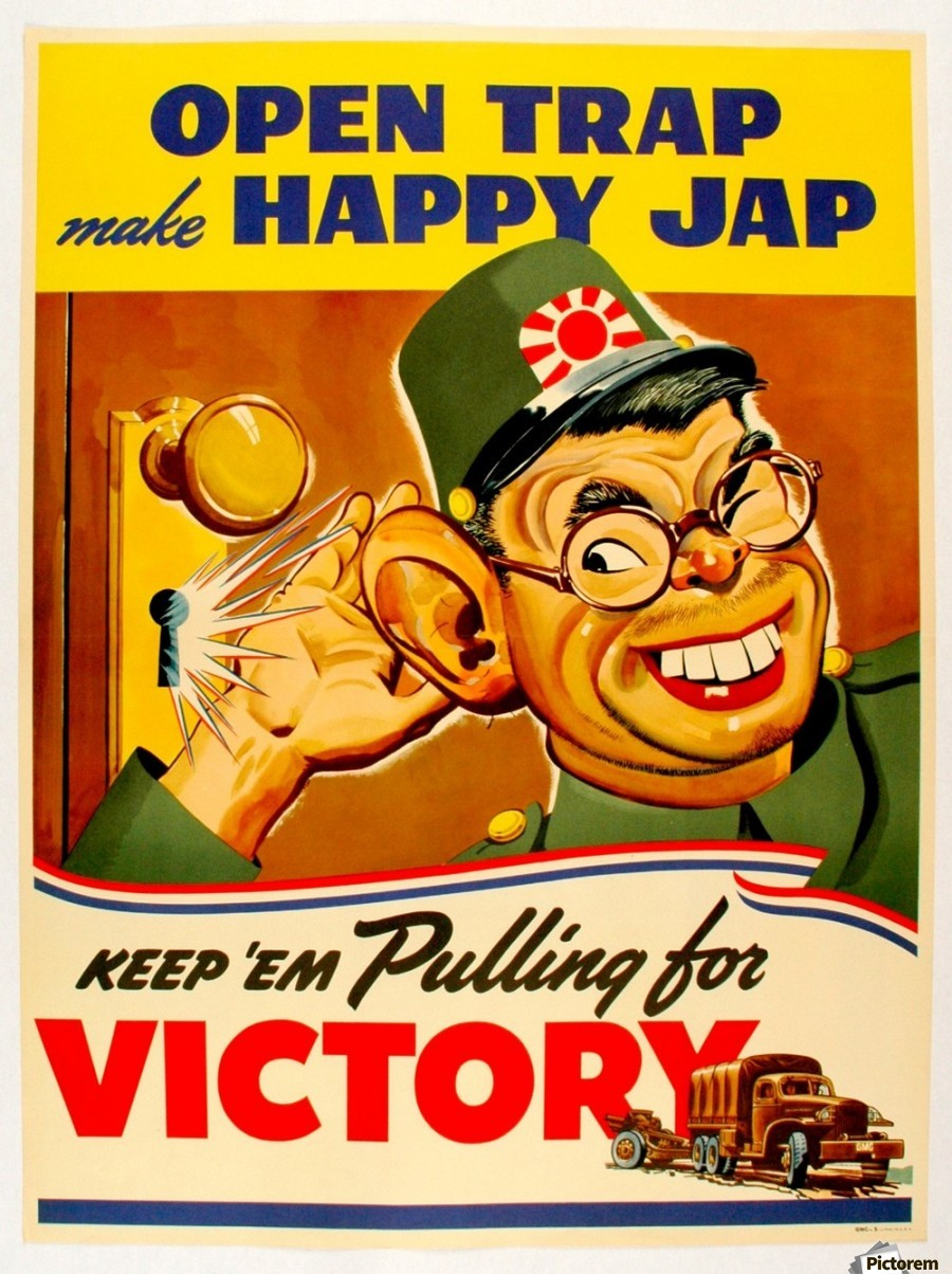 Poster Of The World American Anti Japanese Propaganda From World War Ii Vintage Poster Canvas Artwork