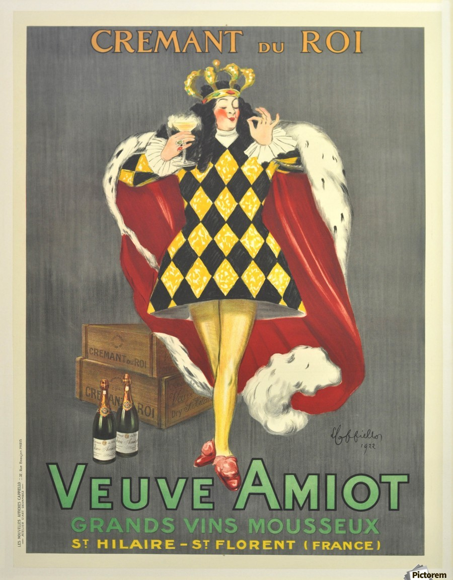 Deco Poster Art Deco Poster By Cappiello Veuve Amiot King Of Sparkling Wines 1920 Vintage Poster Canvas Artwork