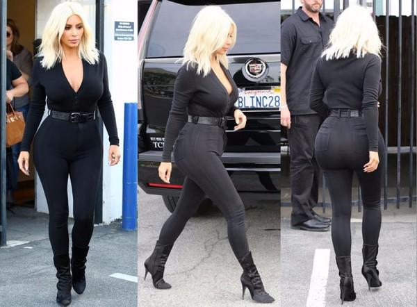 Top Long Sleeves All Black Everything Kim Kardashian
