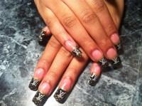 Nail polish: french, brown, nails, dope, trill, louis ...