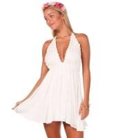 Dress: daisy, white, flowers, floral dress, daisys, daisy ...