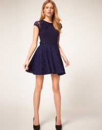 ASOS Petite | ASOS PETITE Exclusive Skater Dress With Lace ...