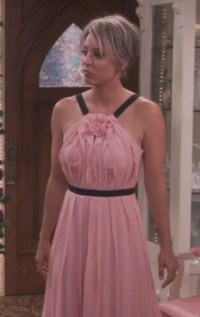 dress, blush pink, wedding, penny, kaley cuoco, big bang ...