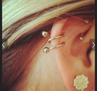Jewels: double cartilage, cartilage earring, spiral ...