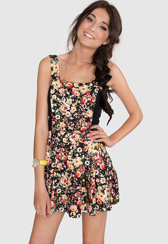 Dark Floral Iphone Wallpaper Floral Overall Dress
