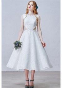 dress, tea length, beautiful, white, lace, cut-out, cut ...
