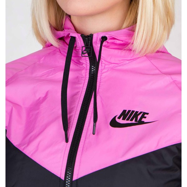 Nike Windrunner Shirt Jacket Hi Black And Pink Just Do It Wind Windrunner