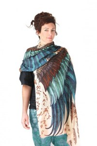 Boho Wings Scarf for Women | Artistic Indie Scarves - Shovava