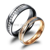 Engraved Titanium Couples Promise Rings for Men and Women ...
