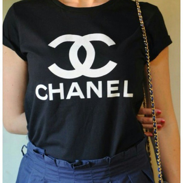 Tshirt Schwarz T-shirt, Chanel - Wheretoget