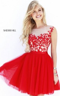 red dress, homecoming dress, short party dresses 2014 ...