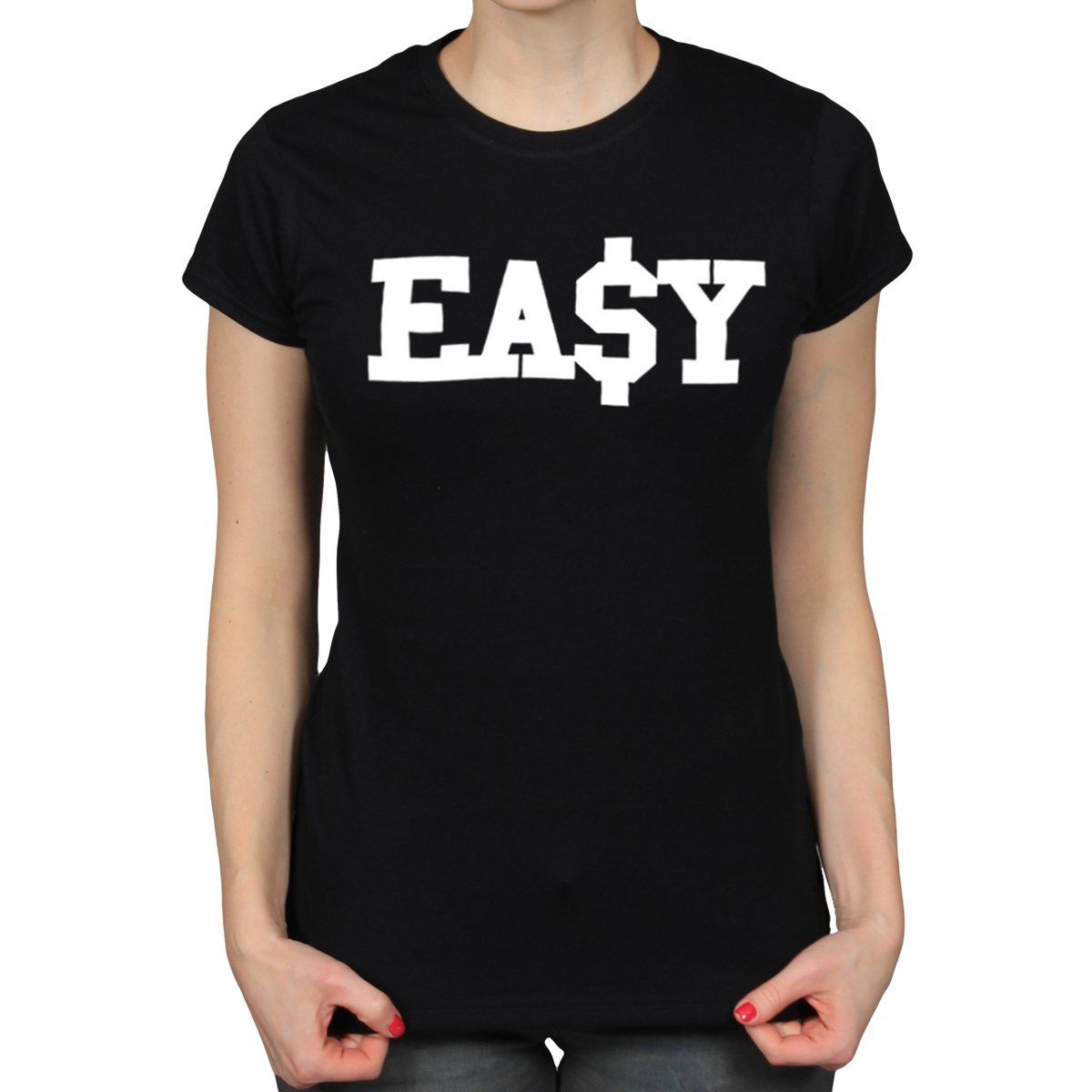 Easy dollar college swag urban rap hip hop ladies black t shirt girls tee 331 ebay
