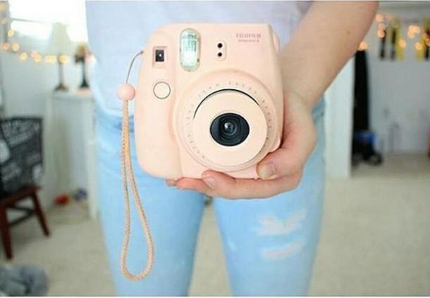 Cute Wallpapers Green Mint Home Accessory Polaroid Camera Pink Pastel Fujifilm