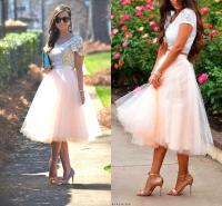 Wholesale Tea Length Tutu Skirt Party Dresses For Women ...