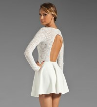 White Lace Splicing Cutout Back Dress @ Dresses,Party ...