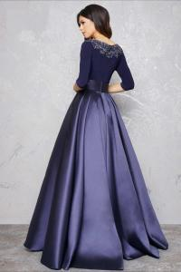 Long Sleeve Evening Gowns Formal Dress A Line Party Dress ...
