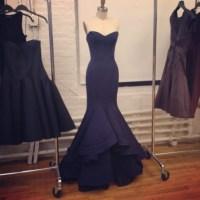 Dress: gown, navy, mermaid prom dress, prom dress, tight ...