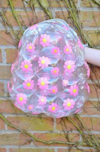 Pink 90s Daisy Flower Floral Club Kid See Through Clear ...