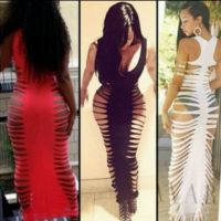 Dress: swimwear, cover up, bodycon, maxi dress, slashed ...