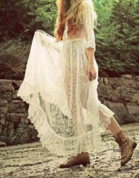 Dress: boho, prom dress, indie, hippie, long, long dress ...