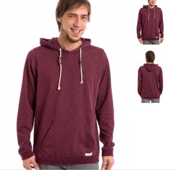 Pullover Hoodie Vs Zip Up Burgundy Hoodie Sweater Baggage Clothing