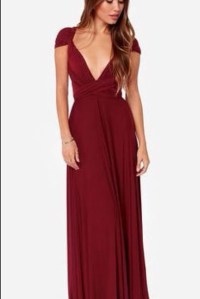 Dress: burgundy, maroon/burgundy, prom dress, prom gown ...