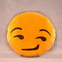 Smirk Emoji Pillow  Throwboy